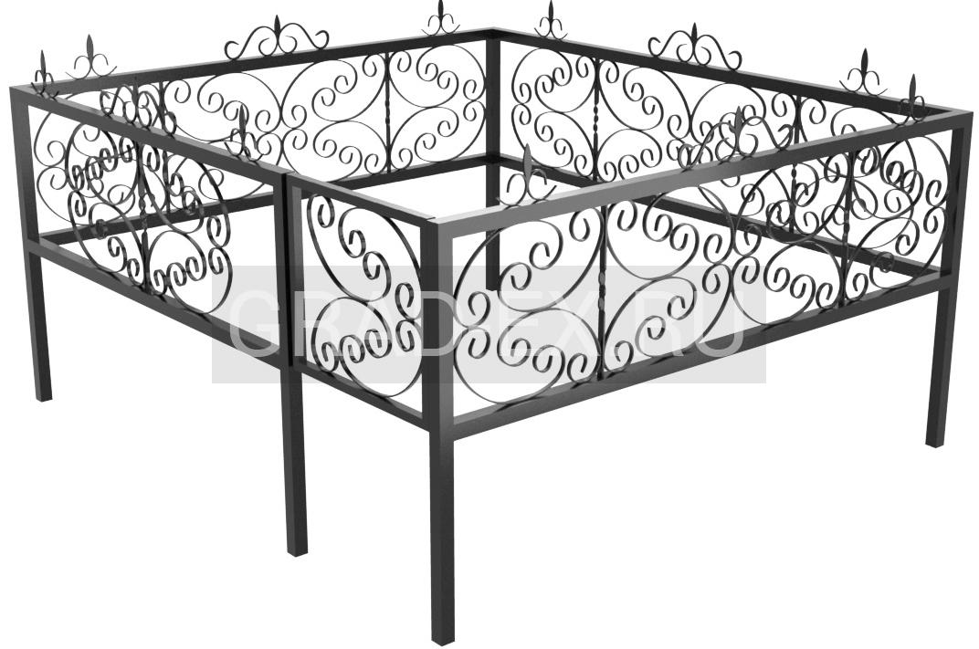 Ограда Премиум класса №3 из металла