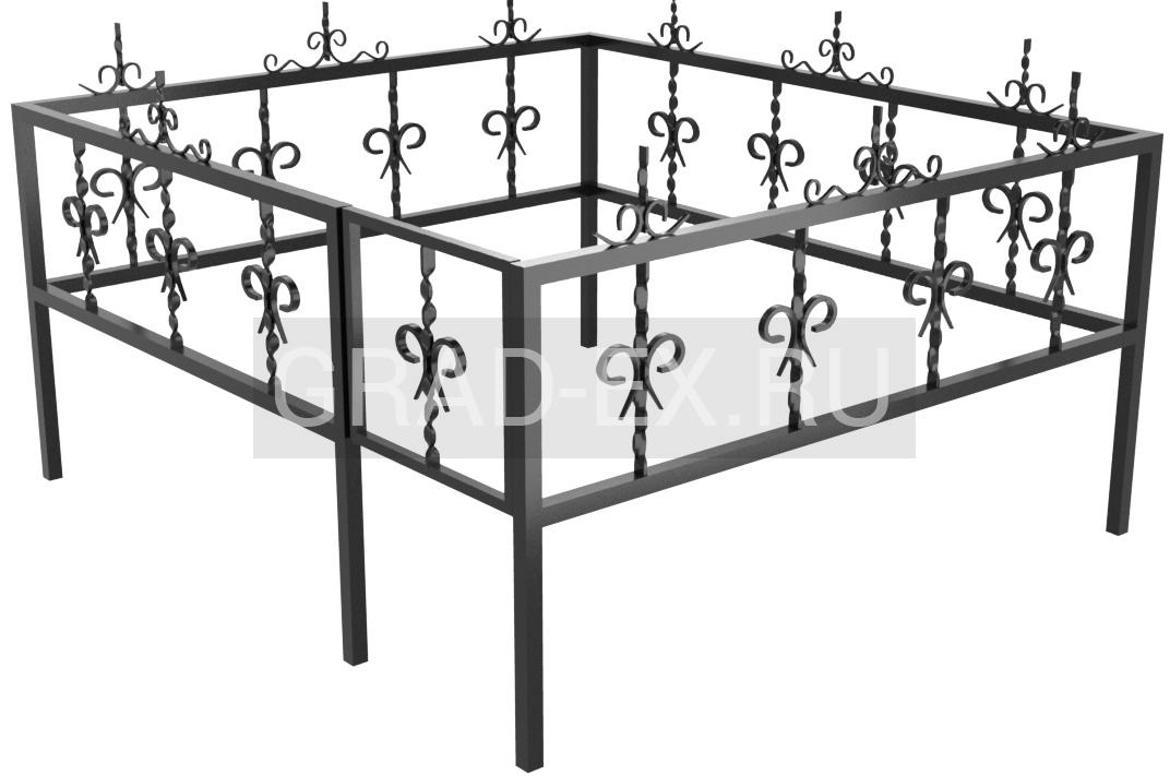 Ограда Эконом класса №1 из металла