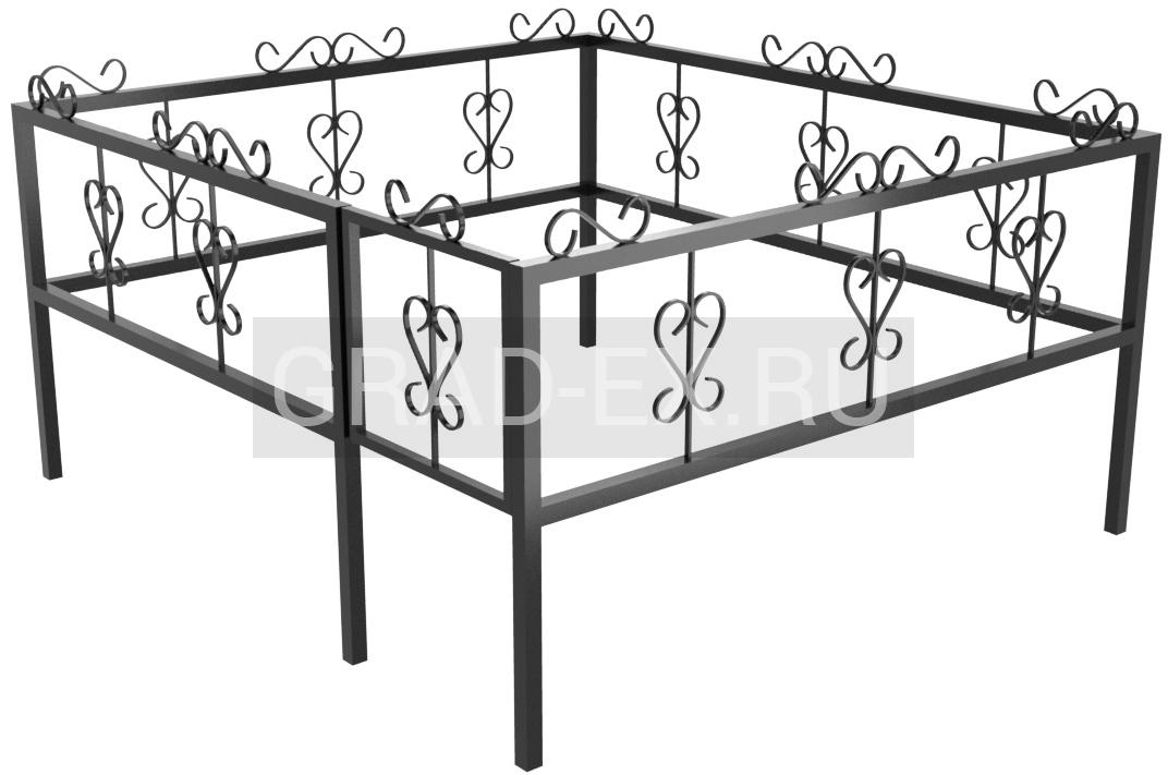 Ограда Эконом класса №11 из металла