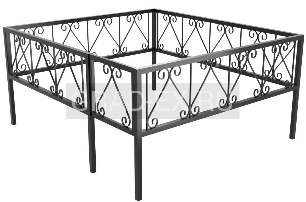 Ограда Премиум класса №13/20 из металла