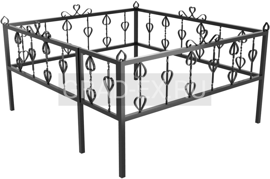 Ограда Эконом класса №21 из металла