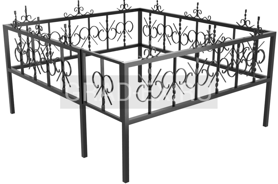 Ограда Эконом класса №4 из металла