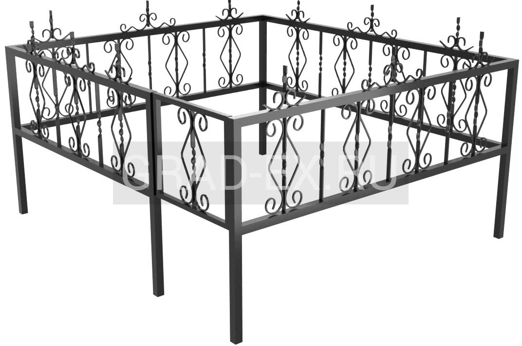Ограда Премиум класса №8 из металла
