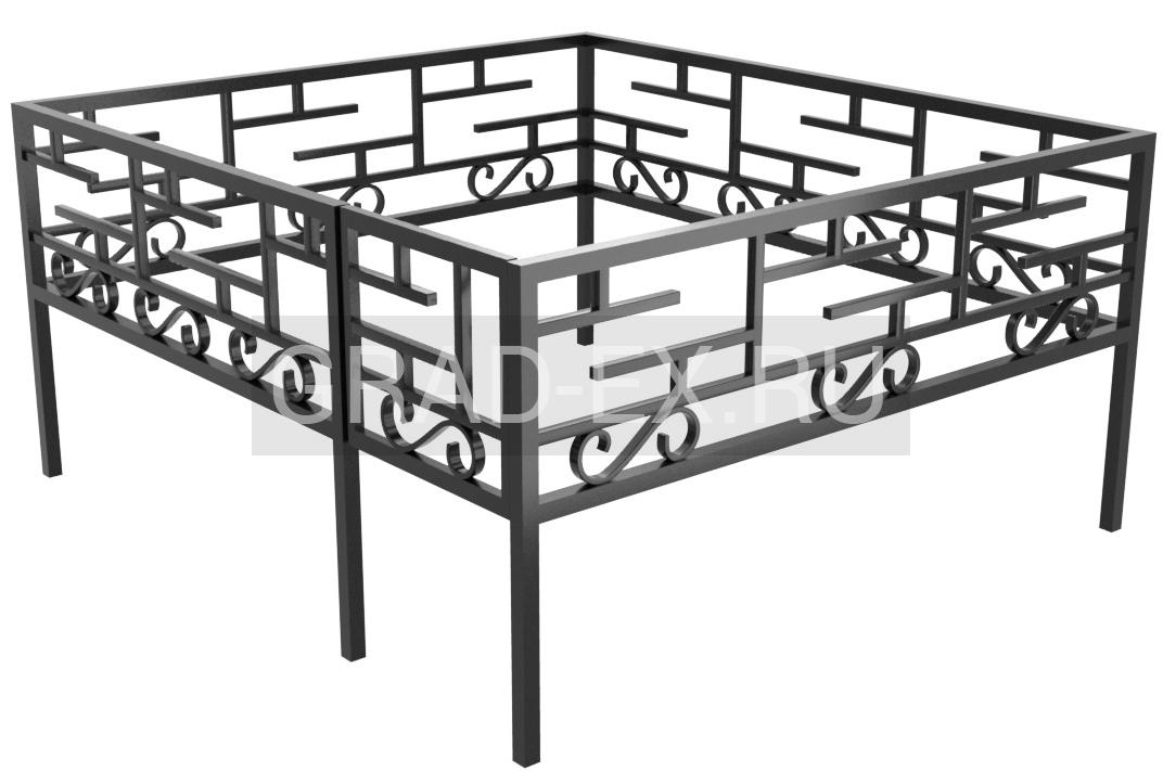 Ограда Эконом класса №15 из металла