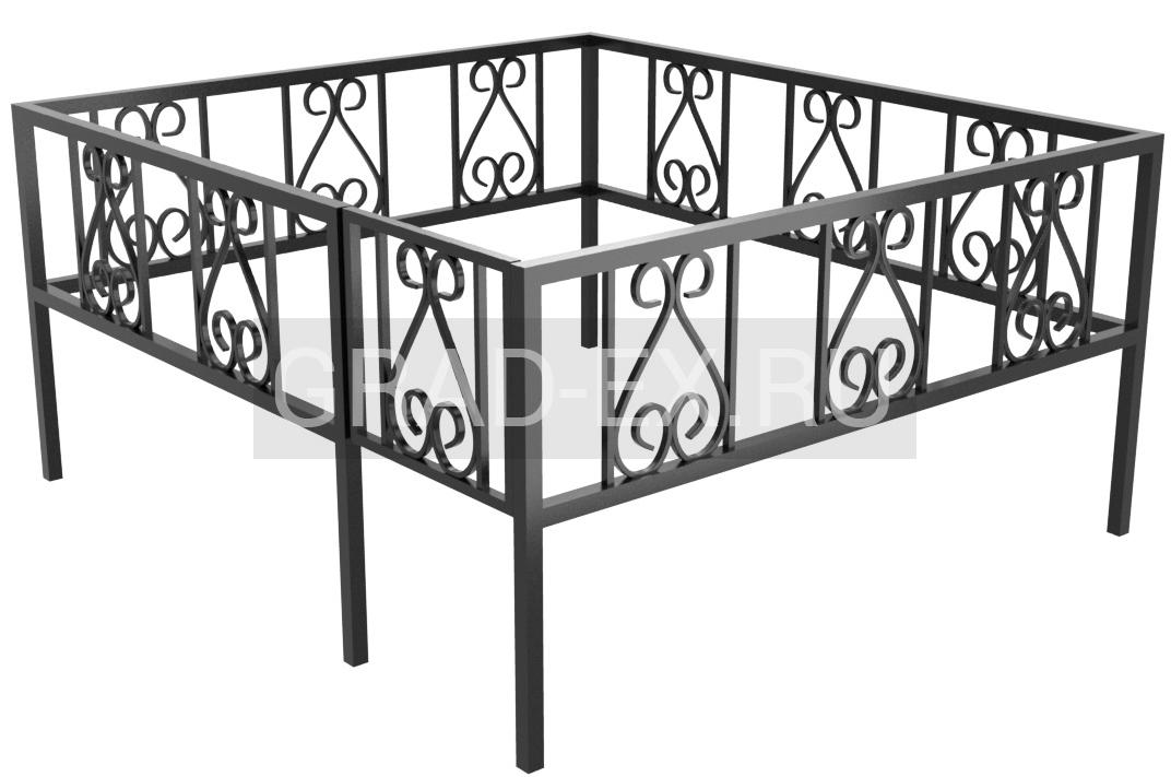 Ограда Премиум класса №6/30 из металла