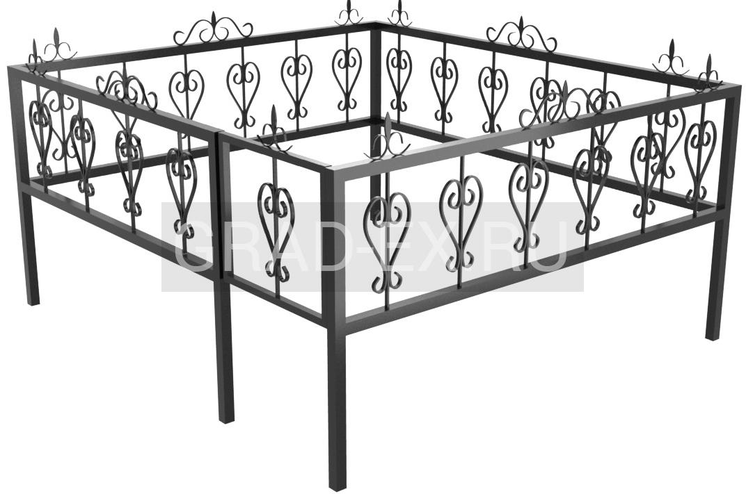 Ограда Эконом класса №12 из металла