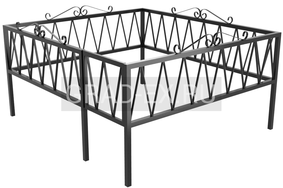Ограда Эконом класса №17/30 из металла