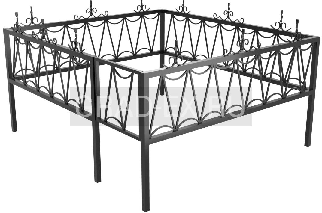 Ограда Премиум класса №9 из металла