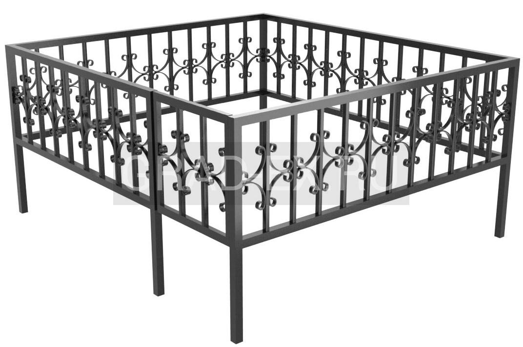 Ограда Эконом класса №25 из металла