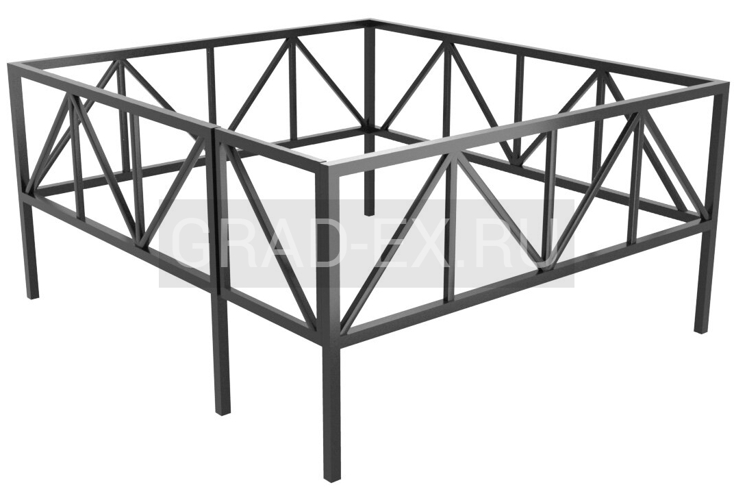 Ограда Эконом класса №27/50 из металла