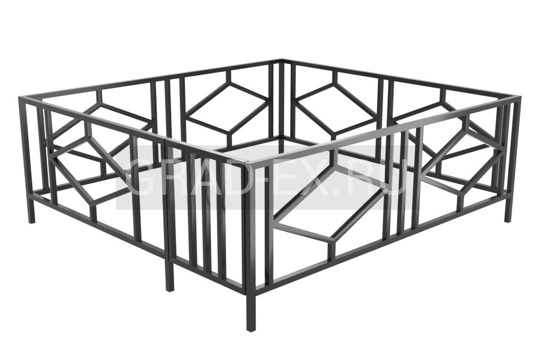 Ограда Эконом класса №35 из металла