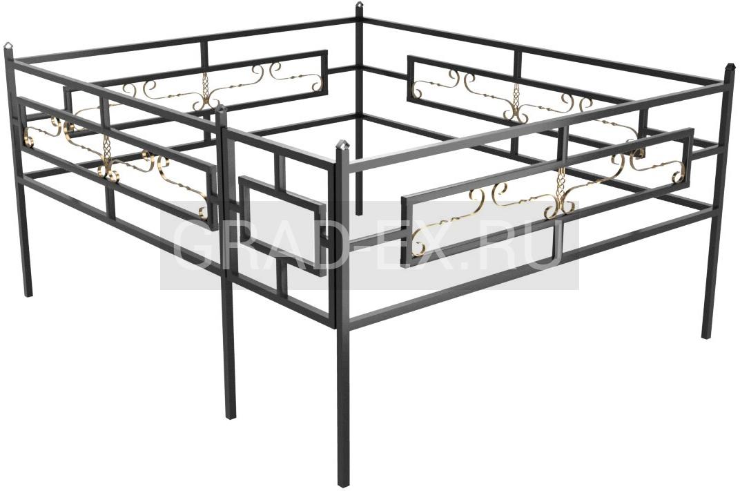 Ограда Эконом класса №37 из металла