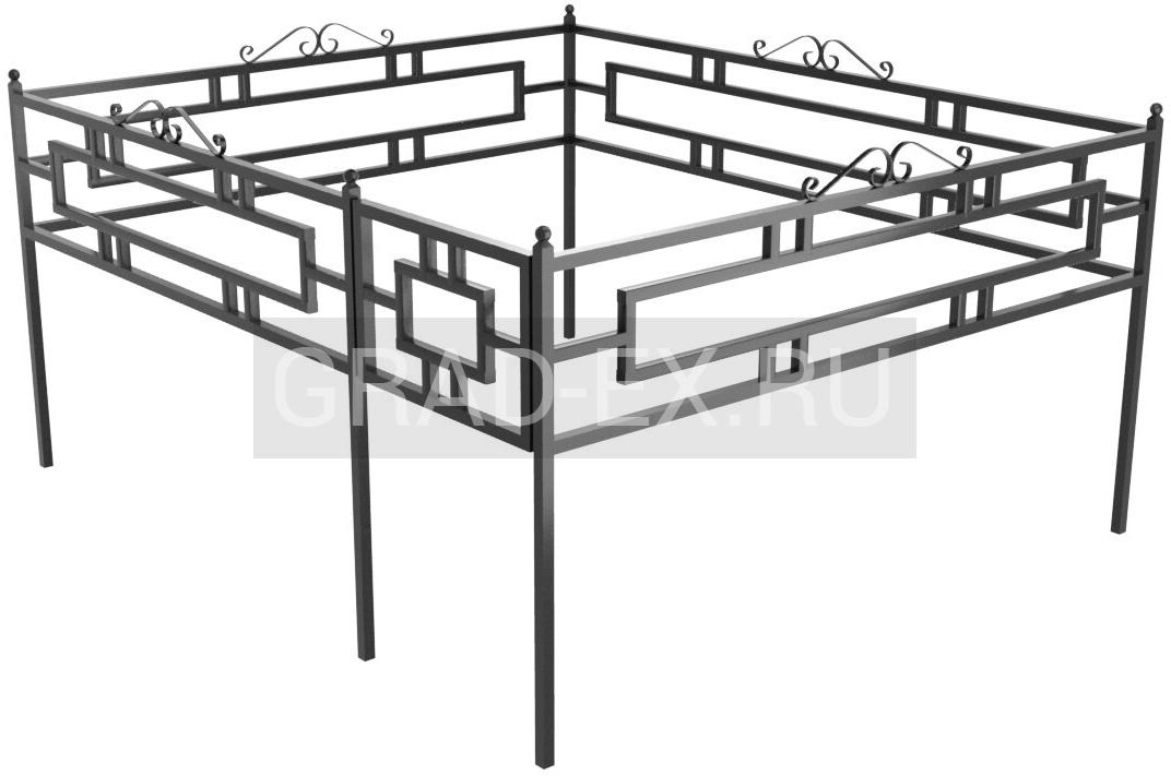 Ограда Эконом класса №39a/50 из металла