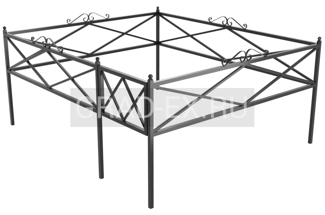 Ограда Премиум класса №39б/50 из металла