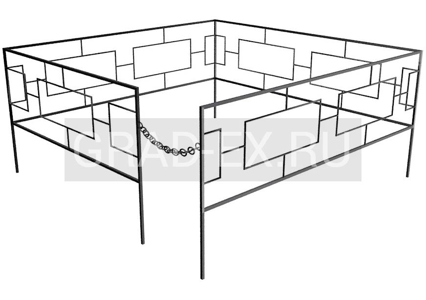 Ограда Премиум класса №5/30 из металла