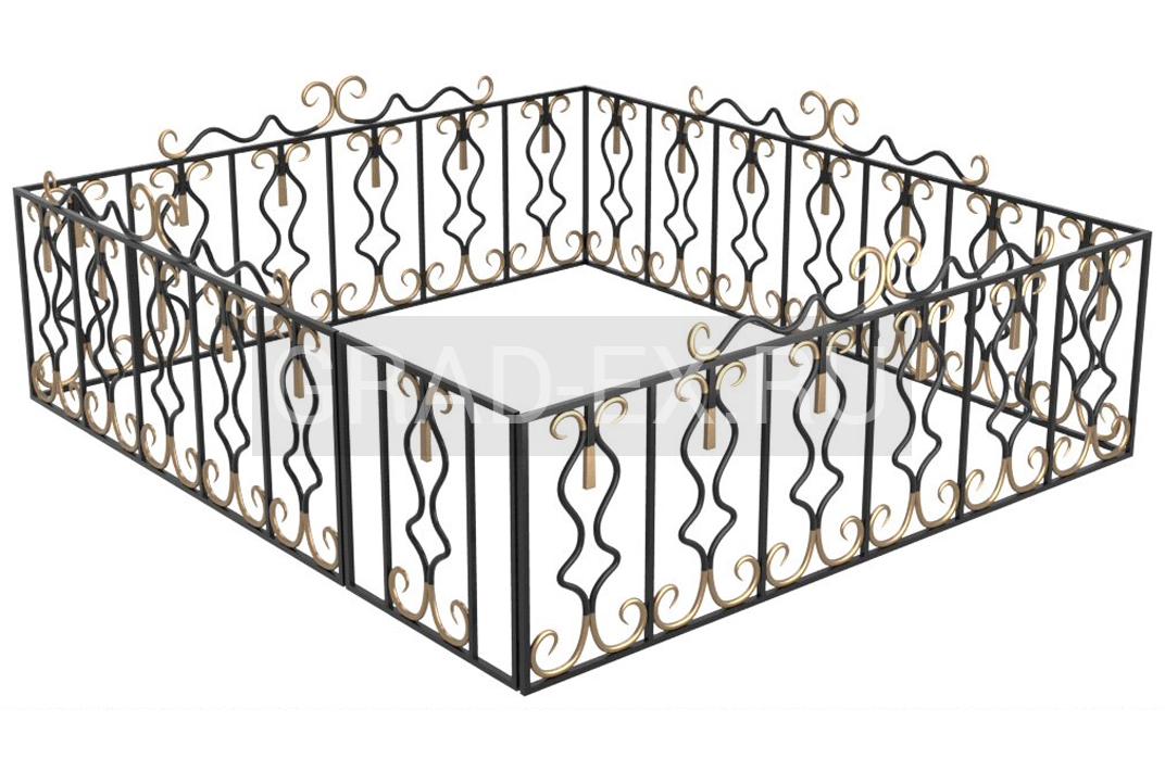Ограда №XI из ковки