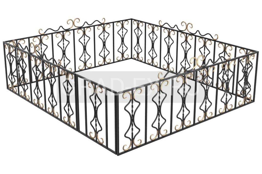 Ограда №XIII из ковки