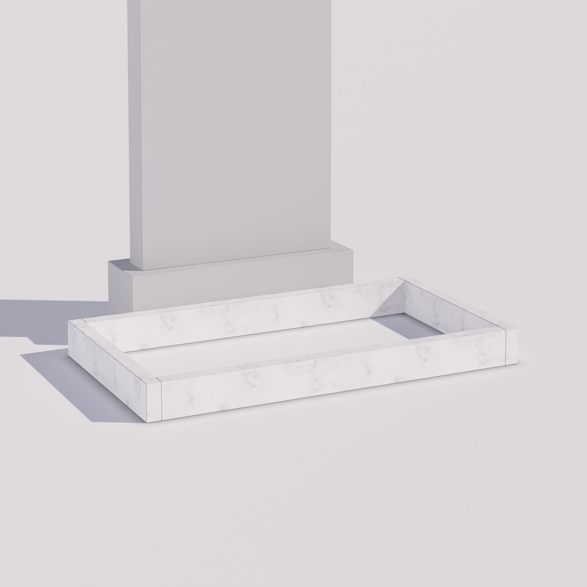 Цветник - мрамор из 4-х поребриков (ВхТ) 10х4 см.