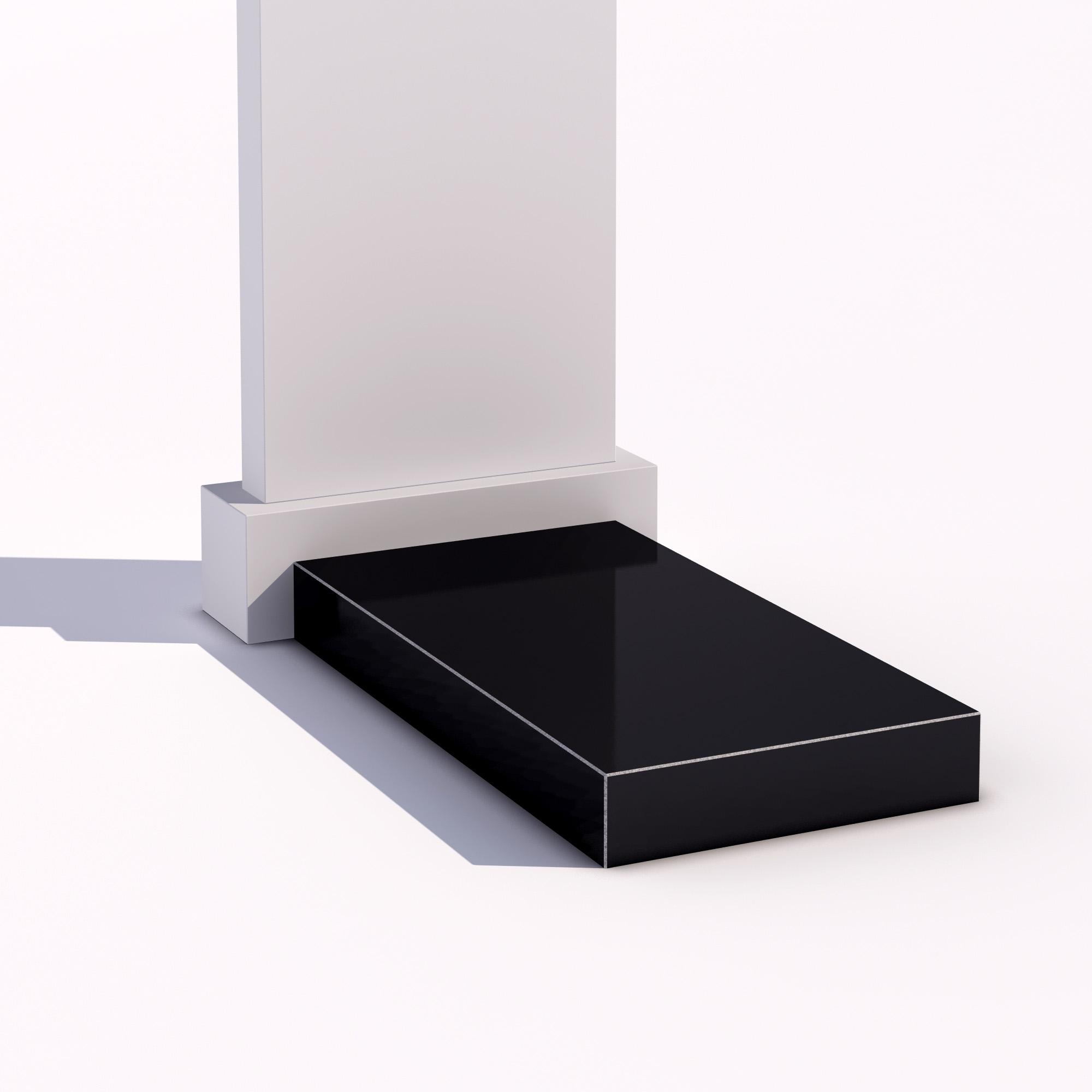 Цветник - гранитополимер надгробная плита